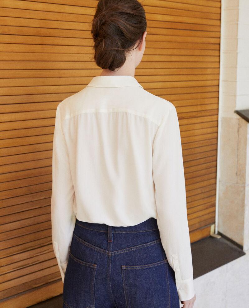 Gerade geschnittene Bluse Off white 9danimo
