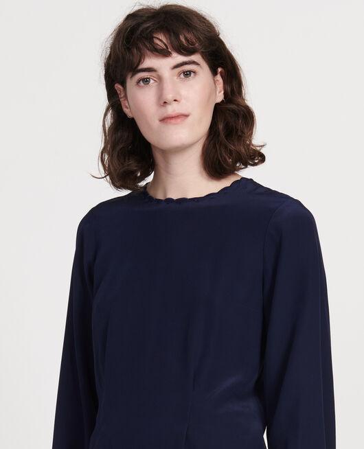 Bestickte Bluse MARITIME BLUE
