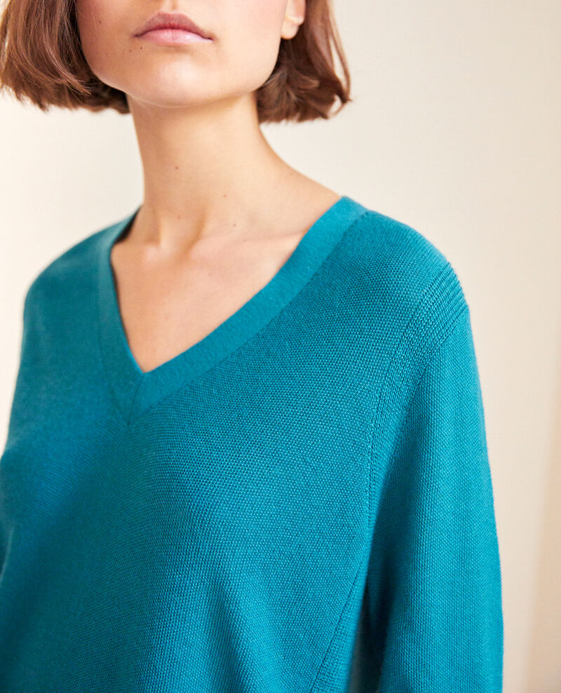 Pullover aus Wolle Turquoise Idile