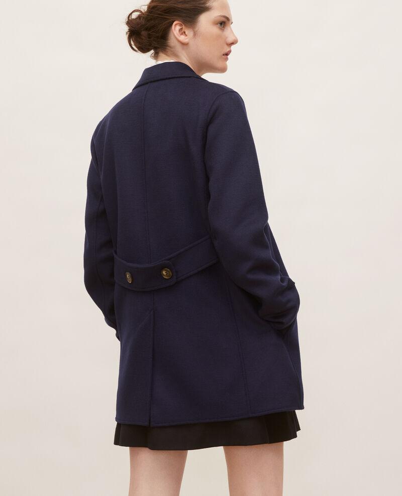 Doppelseitiger Caban-Mantel aus Wollgewebe Maritime blue Lintot