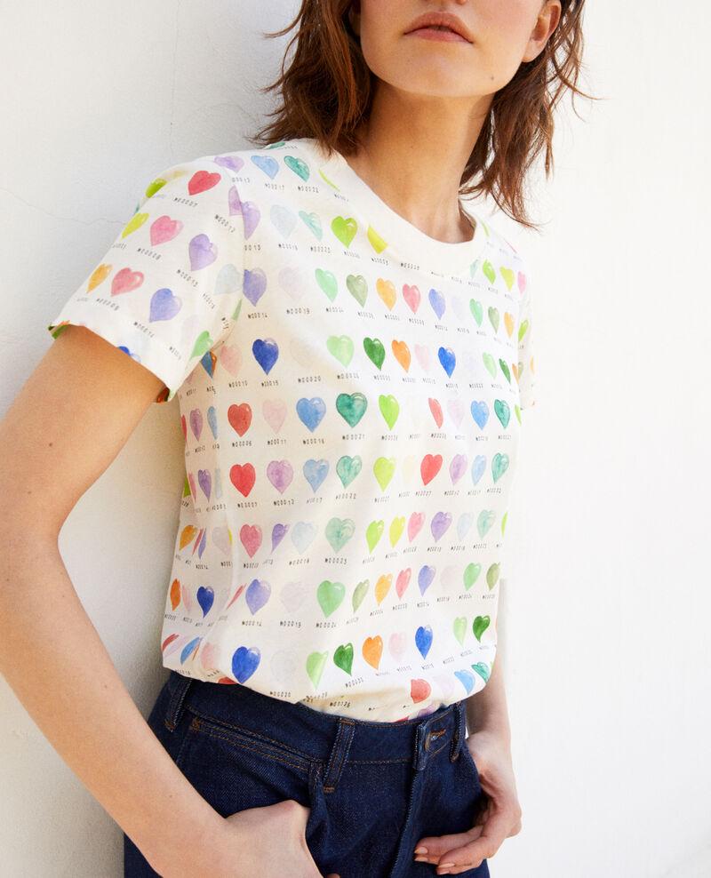T-Shirt mit Herzmuster Off white Ilover