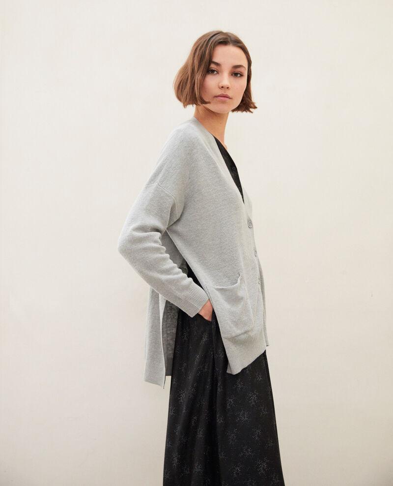 Gilet femme oversize en lin couleur Gris - Ilubi | Comptoir des ...