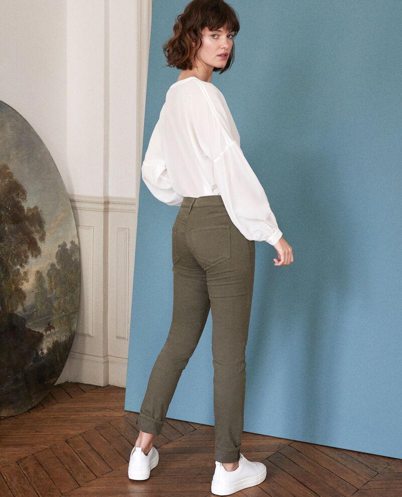 Slim-Jeans Olive night Goneto
