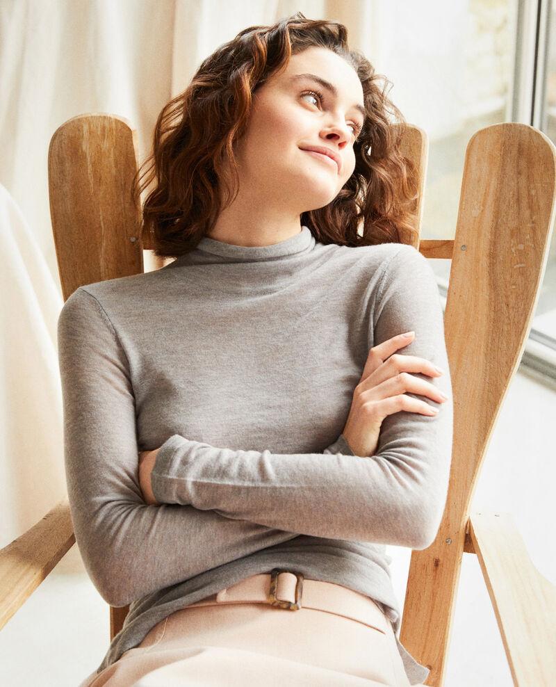 Wollpullover mit Stehkragen Heather light grey Ilfried