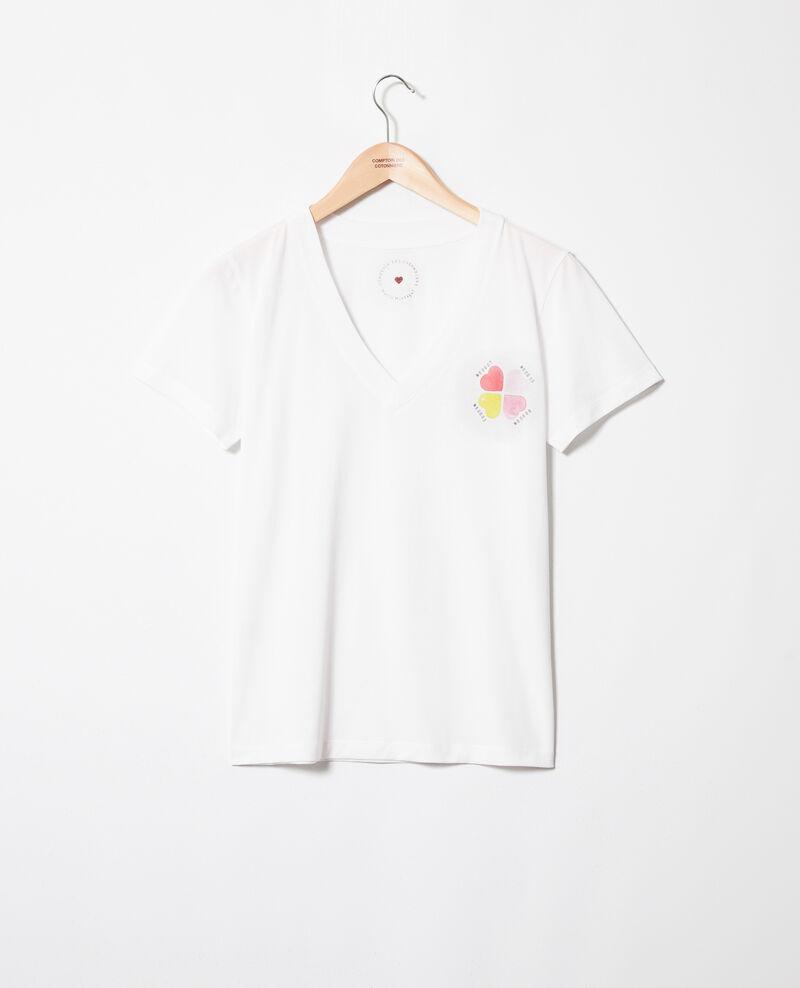 T-Shirt mit Herzmuster in Kreuzform Off white Itrefle