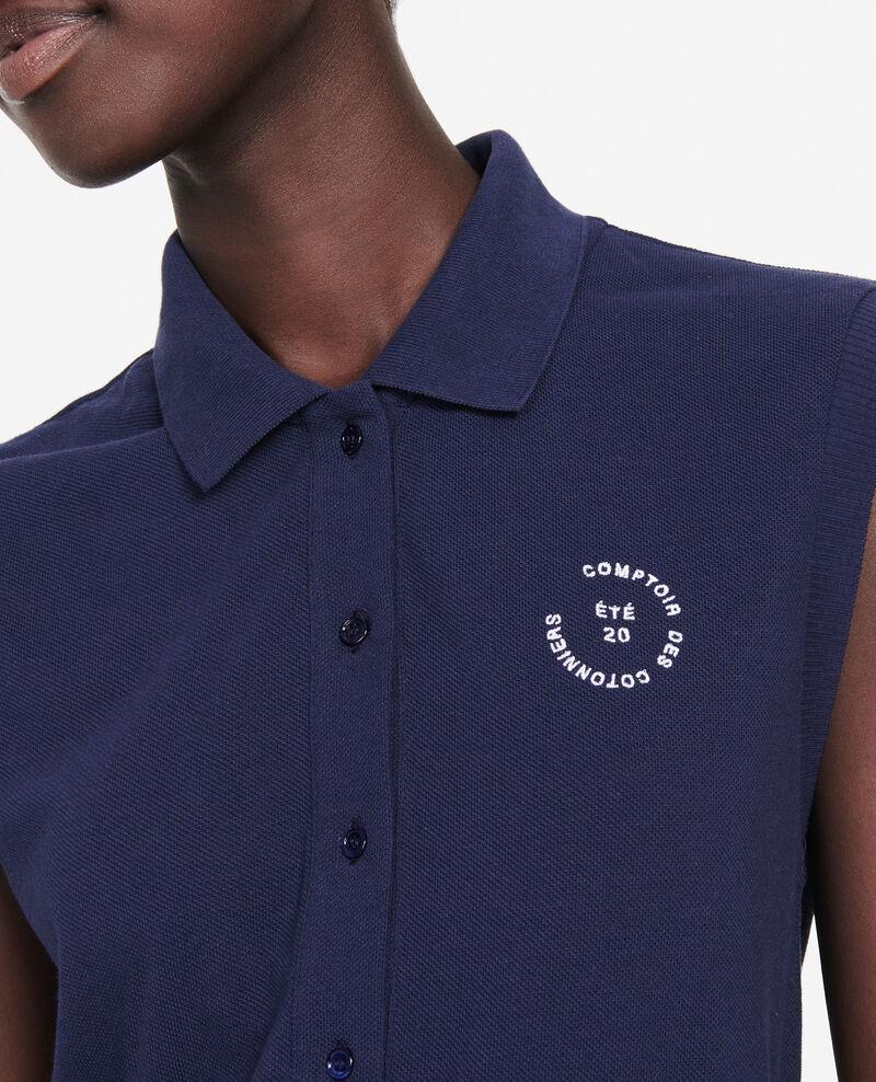 Polo-Shirt aus Piqué-Baumwolle Maritime blue Laurac