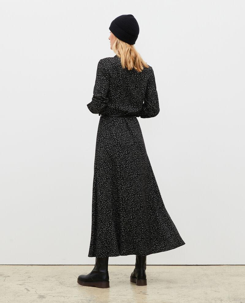 Langes gemustertes Maxi-Kleid Print constellation black Meursac