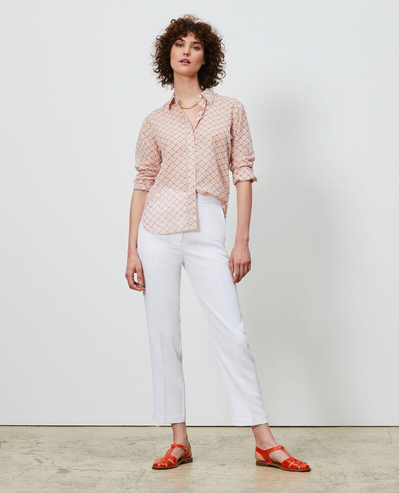 Gemusterte Bluse aus Baumwolle Daisy seashellpink Nandes