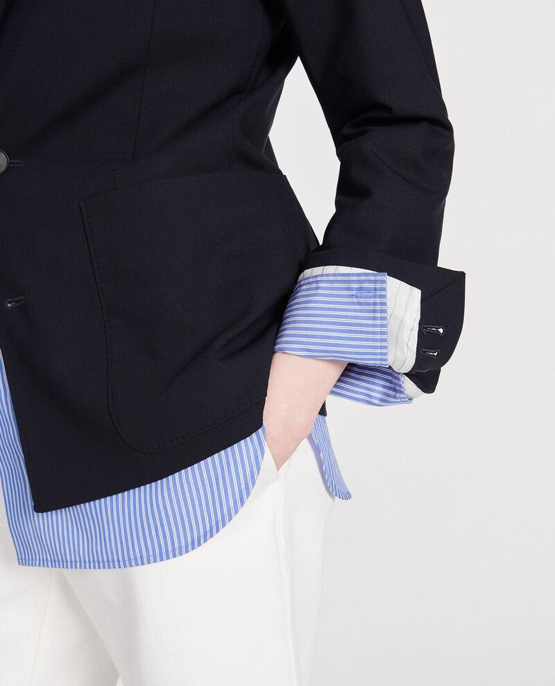 Blazer aus Wolle Dark navy Luscadi