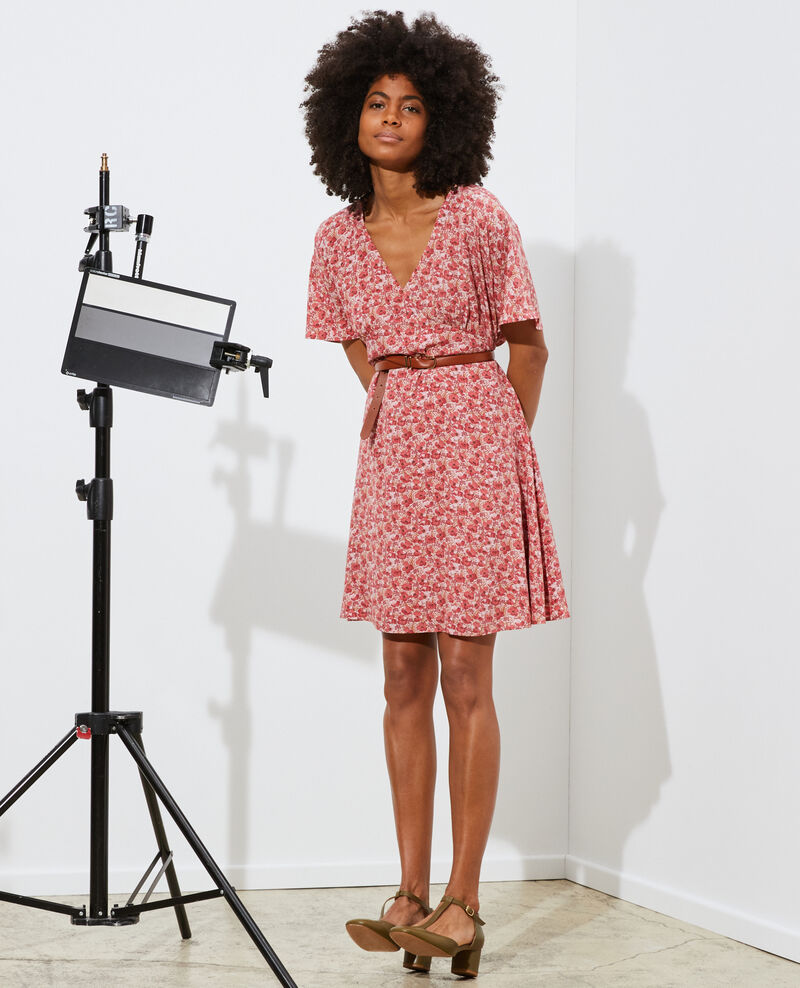 Kurzes Seidenkleid Art deco pink Pabydoll