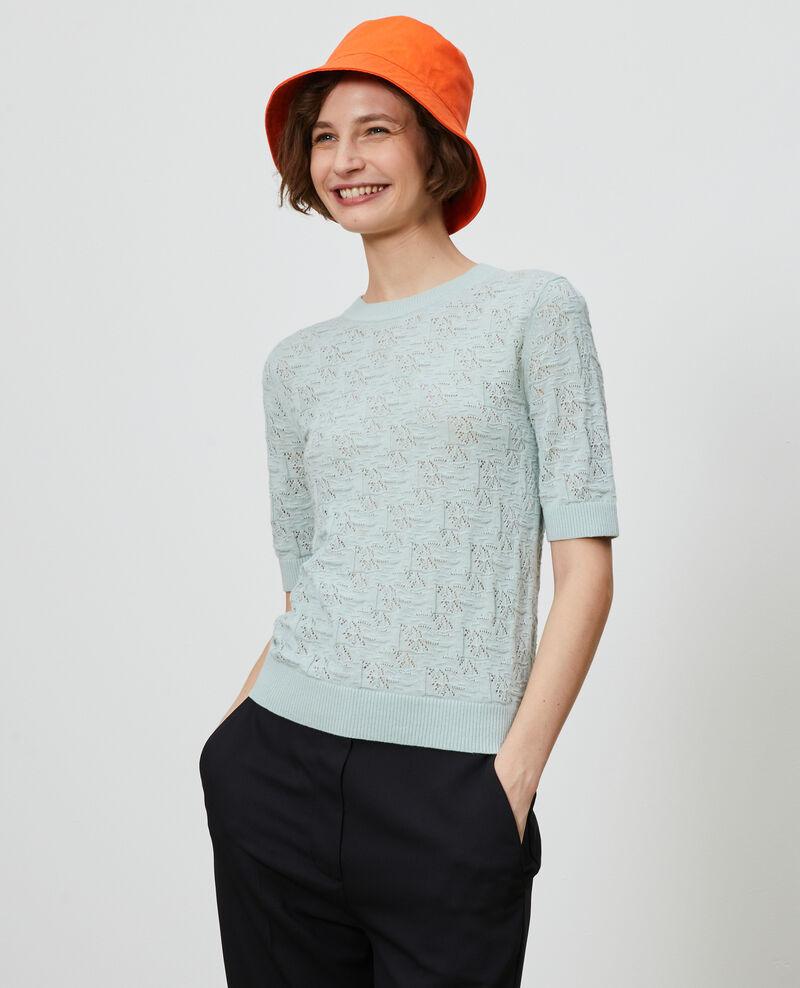 Pullover aus Baumwolle und Leinen Blue haze Lagos