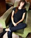 Zeitloses T-Shirt Noir Joya