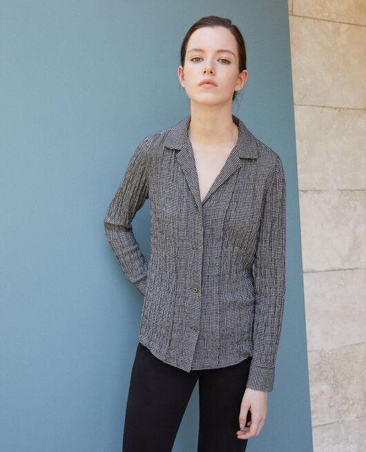 Bluse mit Knittereffekt Grau