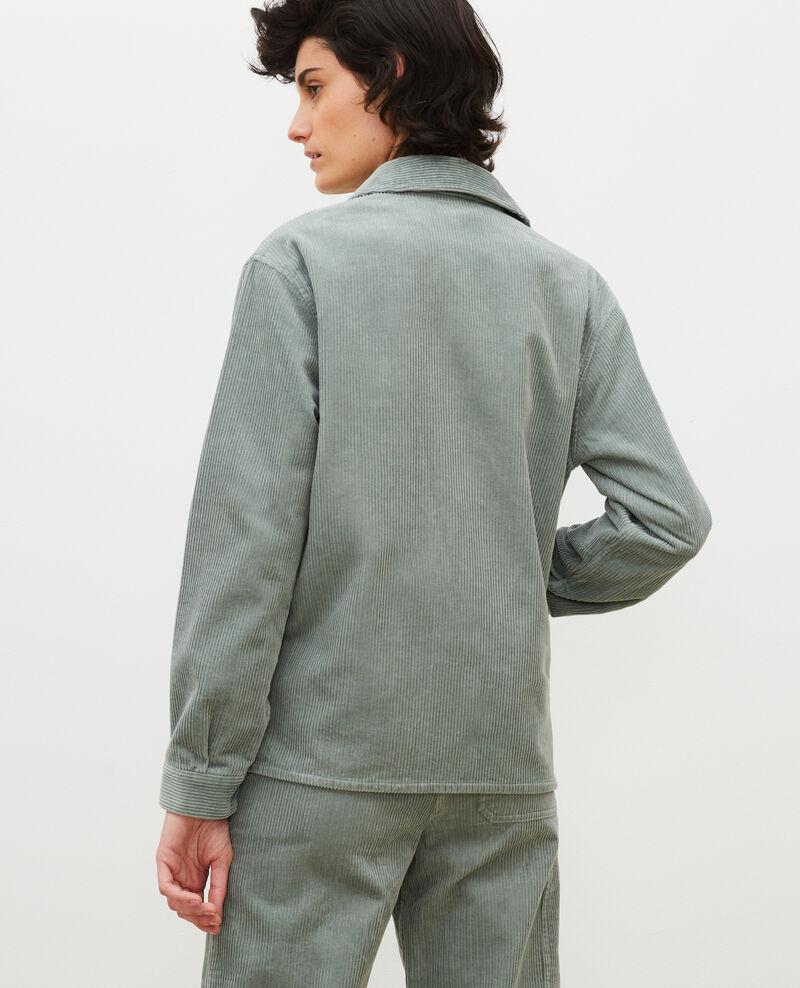 Arbeitsjacke aus Cord Chinois green Malipine