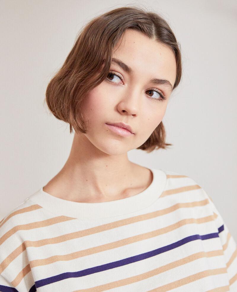 Matrosen-T-Shirt Ow/camel/navy Ipanka