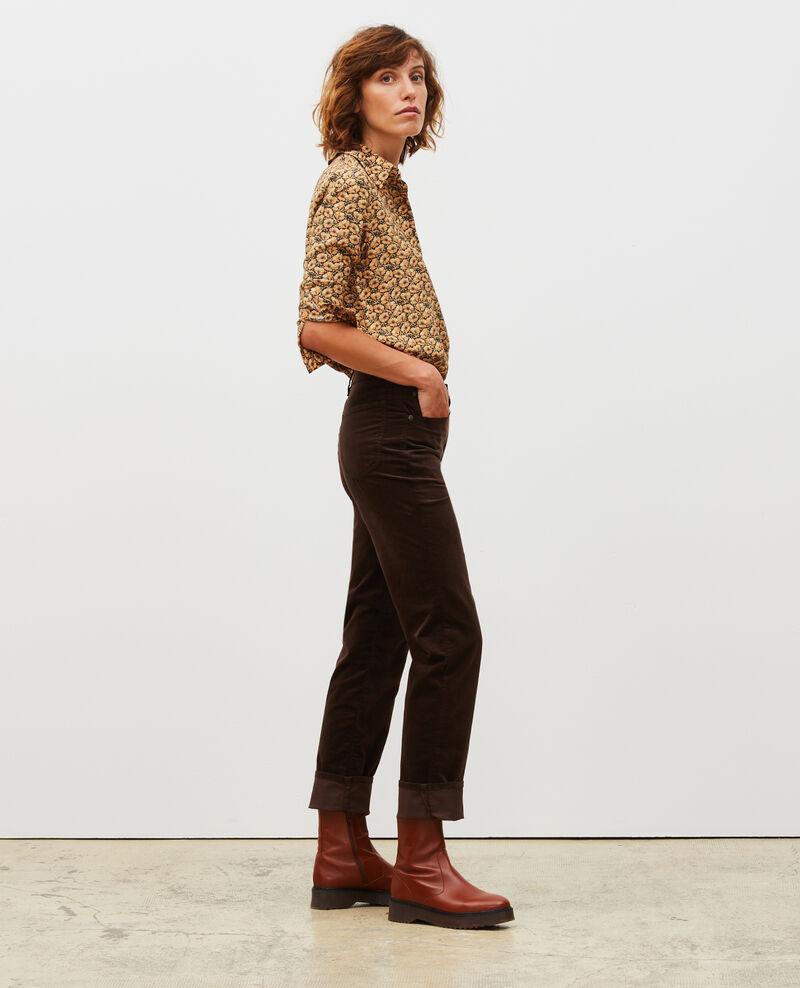 SLIM STRAIGHT - Gerade  5 Pocket-Jeans aus Samt Coffee bean Muillemin