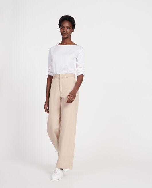 T-Shirt aus ägyptischer Baumwolle OPTICAL WHITE