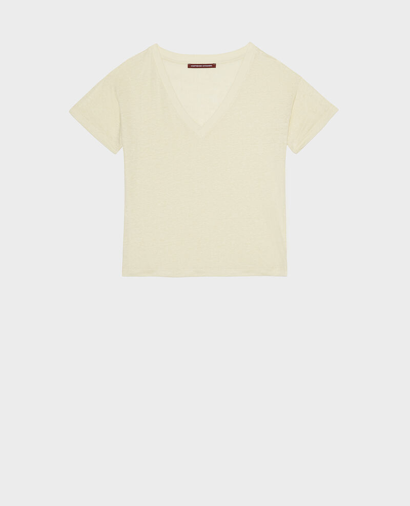 T-Shirt aus Leinen Tender yellow Locmelar