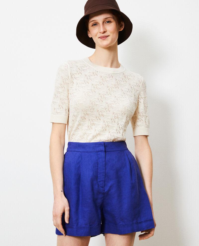 Pullover aus Baumwolle und Leinen Buttercream Lagos