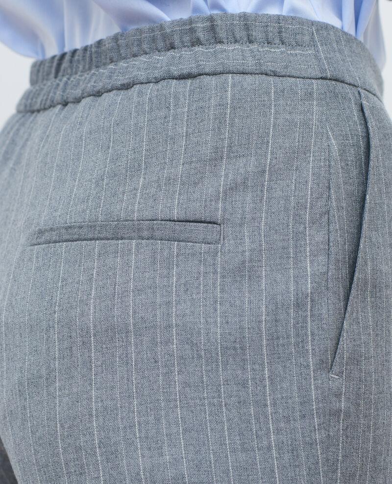 Hose MARGUERITE, enge 7/8-Hose Light grey stripe Peasy