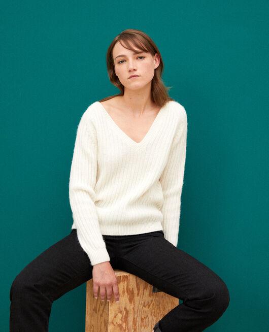 Wendebarer Pullover Weiß