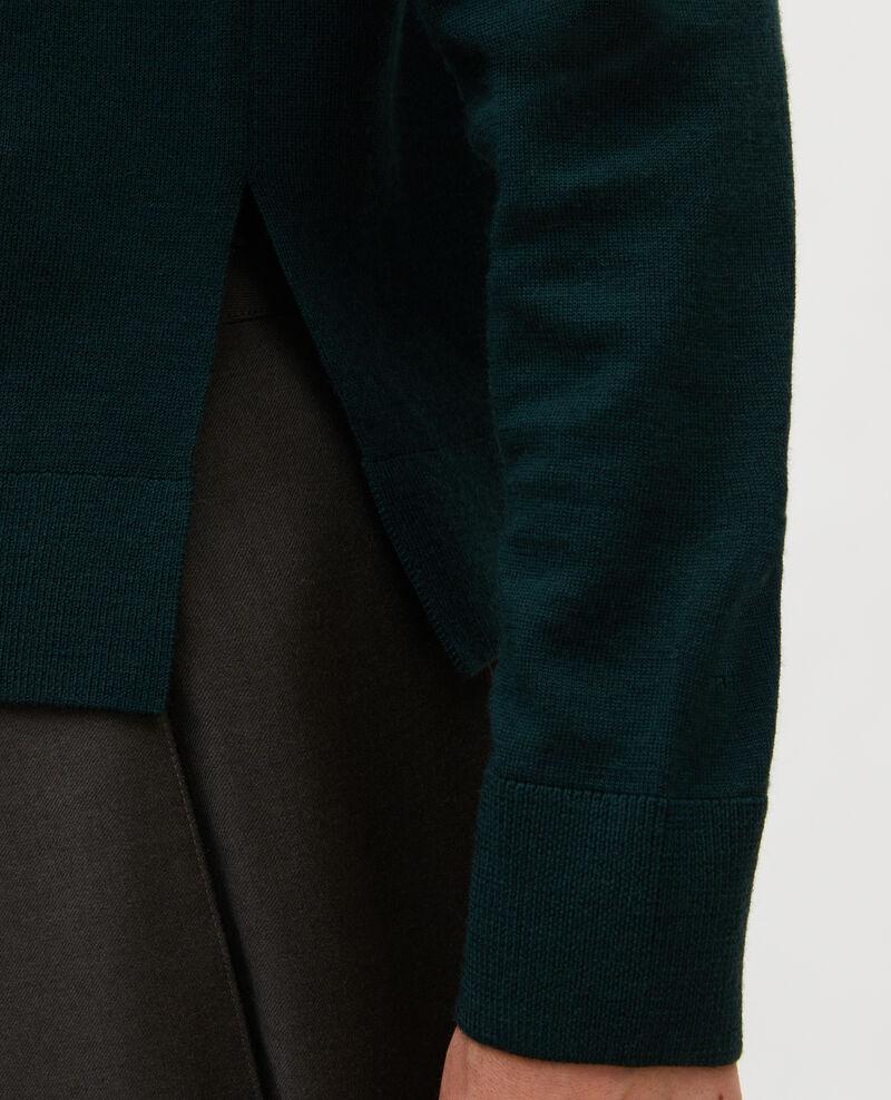 Pullover aus Merinowolle mit Stehkragen Scarab Malleville