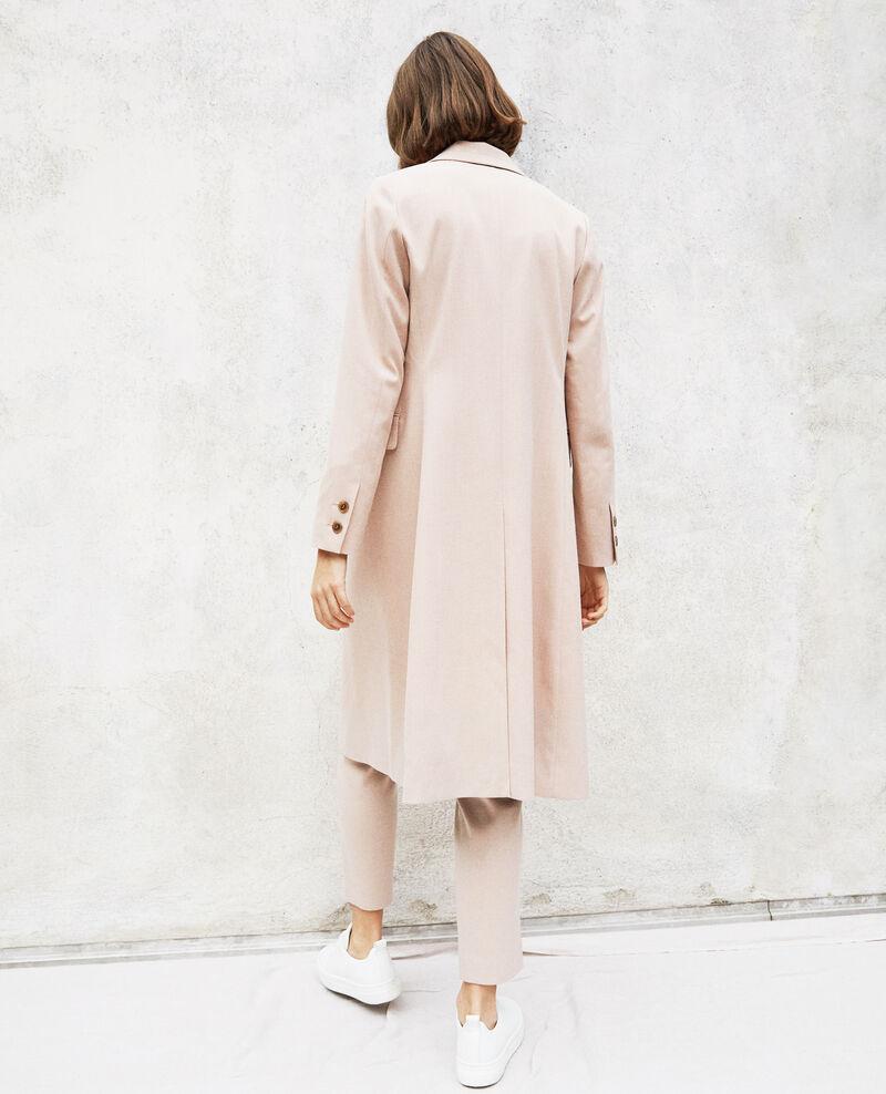 Leichter langer Mantel Pink beige Illinois