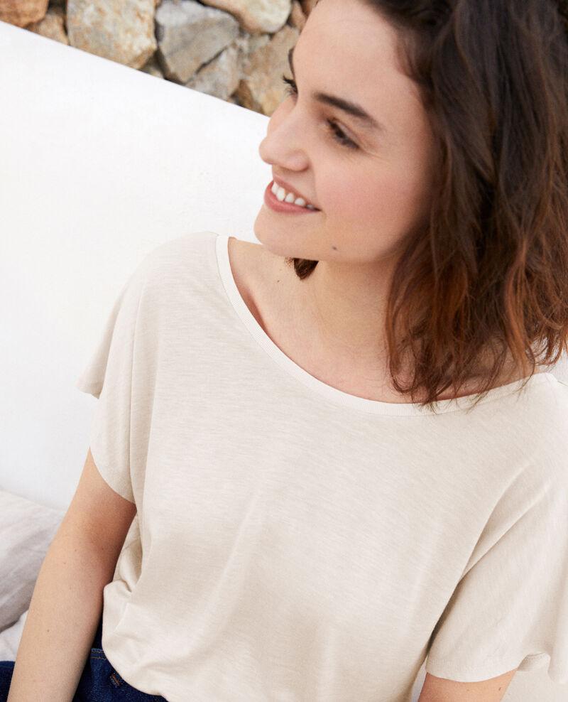 T-shirt col V dans le dos  Off white Imeric