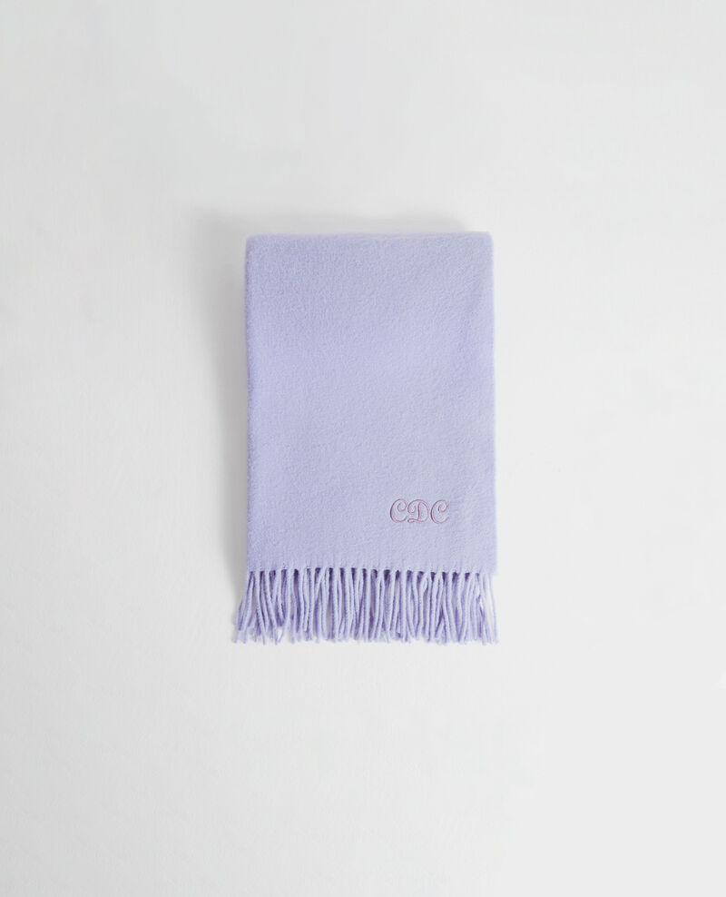 Großer Wollschal mit Fransen Pastel lilac Mautes