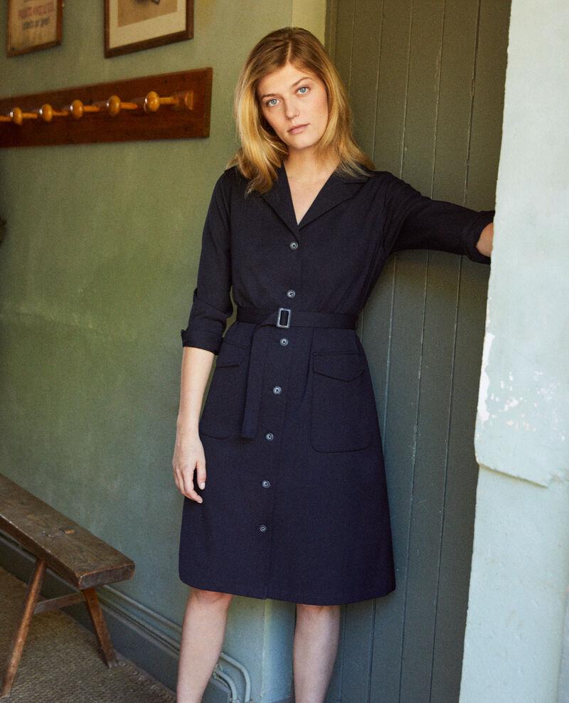 Kleid mit offenem Kragen Dark navy Jimauve