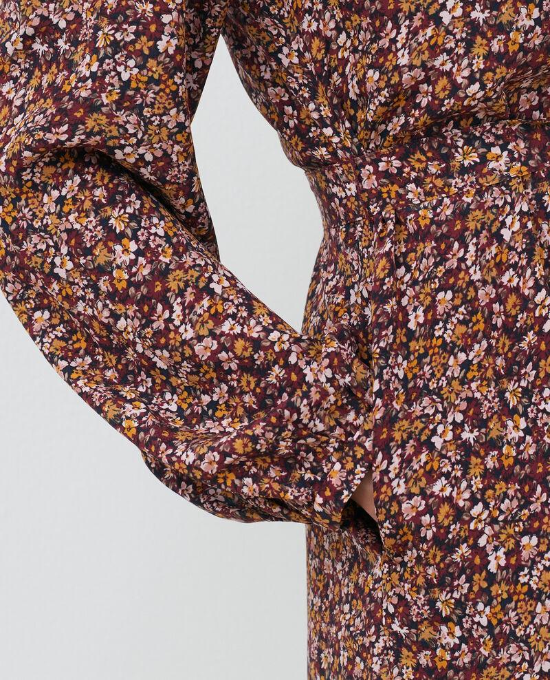Kurzes Seidenkleid Liberty cabernet Pavishy