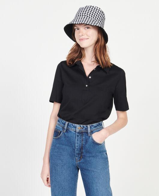 Polo-Shirt aus ägyptischer Baumwolle BLACK BEAUTY
