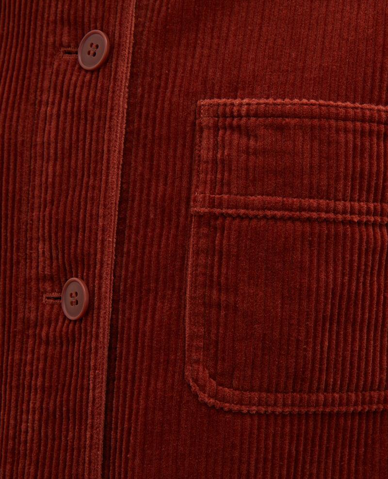 Arbeitsjacke aus Cord Brandy brown Malipine