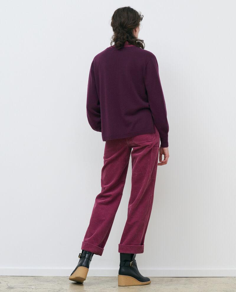 Jacke mit 3-D-Strick aus Kaschmir in lockerer Passform Potent purple Paltazar
