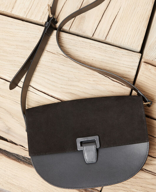 Große Halbmond-Tasche NOIR