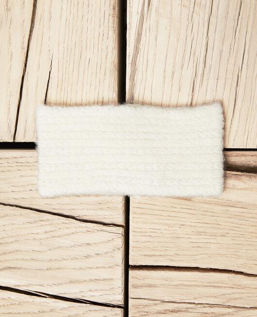 Strick-Headband OFF WHITE