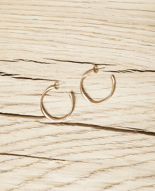 Runde unregelmäßige Ohrringe GOLD