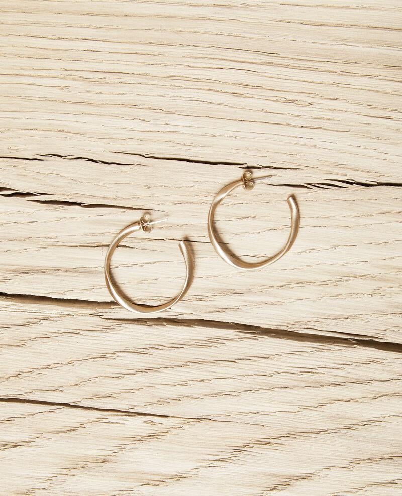 Runde unregelmäßige Ohrringe Gold Imoni