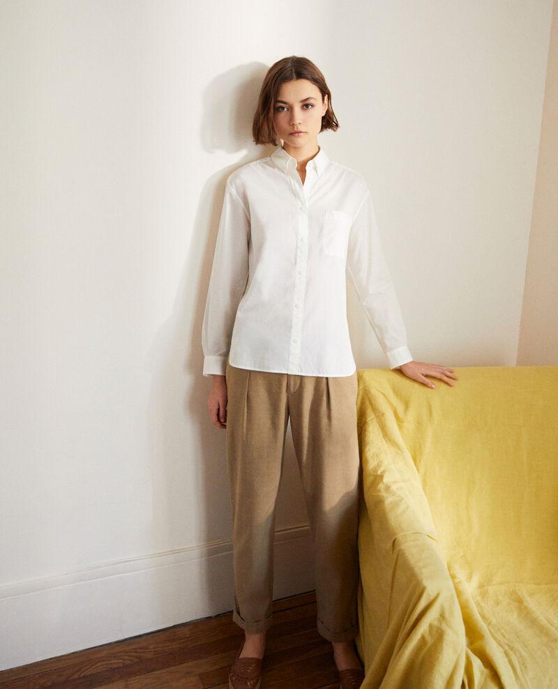 Zeitlose Bluse aus Baumwolle Blanc Ibouya