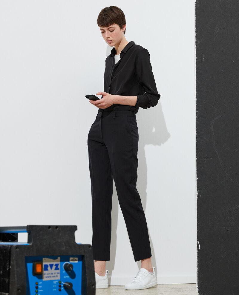 Hose MARGUERITE, 7/8-Zigarettenhose aus Wolle Black beauty Noko