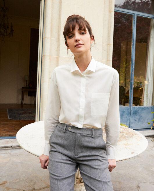 Zeitlose Bluse aus Baumwolle COCONUT MILK