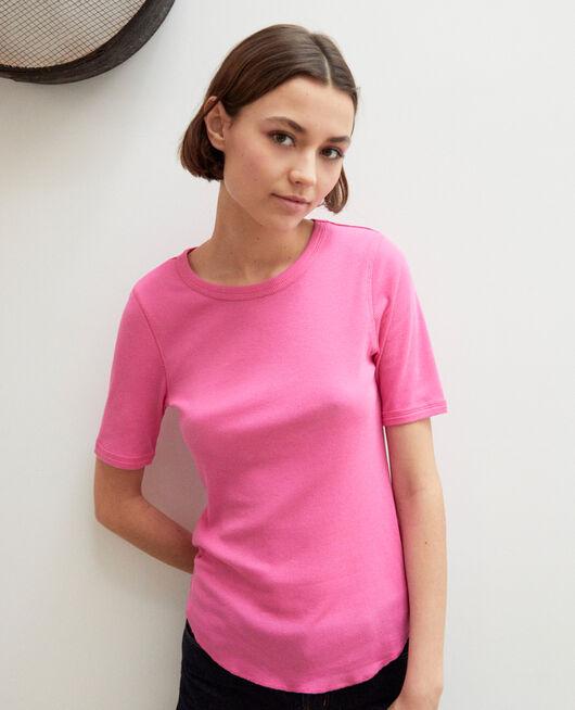 Rippstrick-T-Shirt  WILD ORCHID