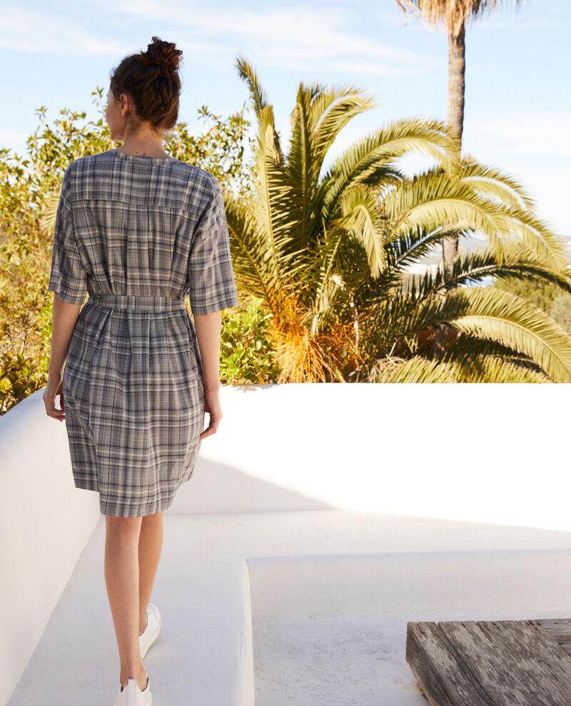 Kleid aus Baumwolle Off white/navy Imarine
