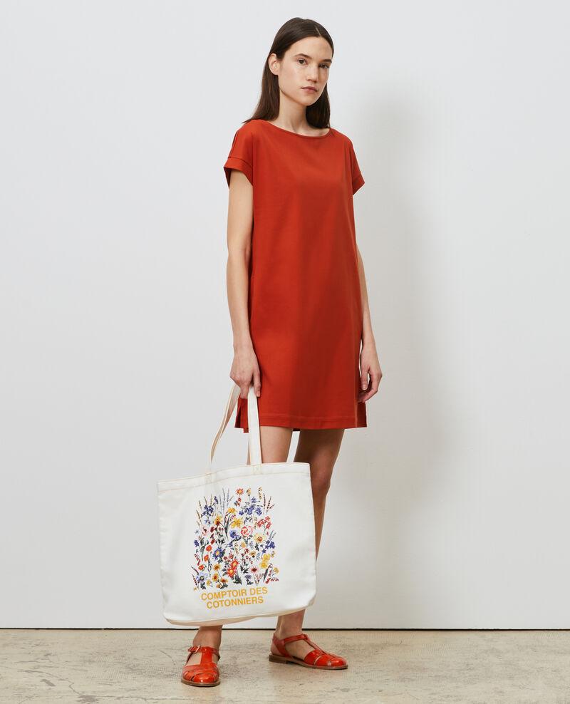 Kurzes Kleid aus Bio-Baumwolle Rooibos tea Neuillaco