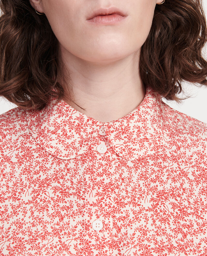 Bluse mit Aufdrucken Feuillage buttercream Laloun