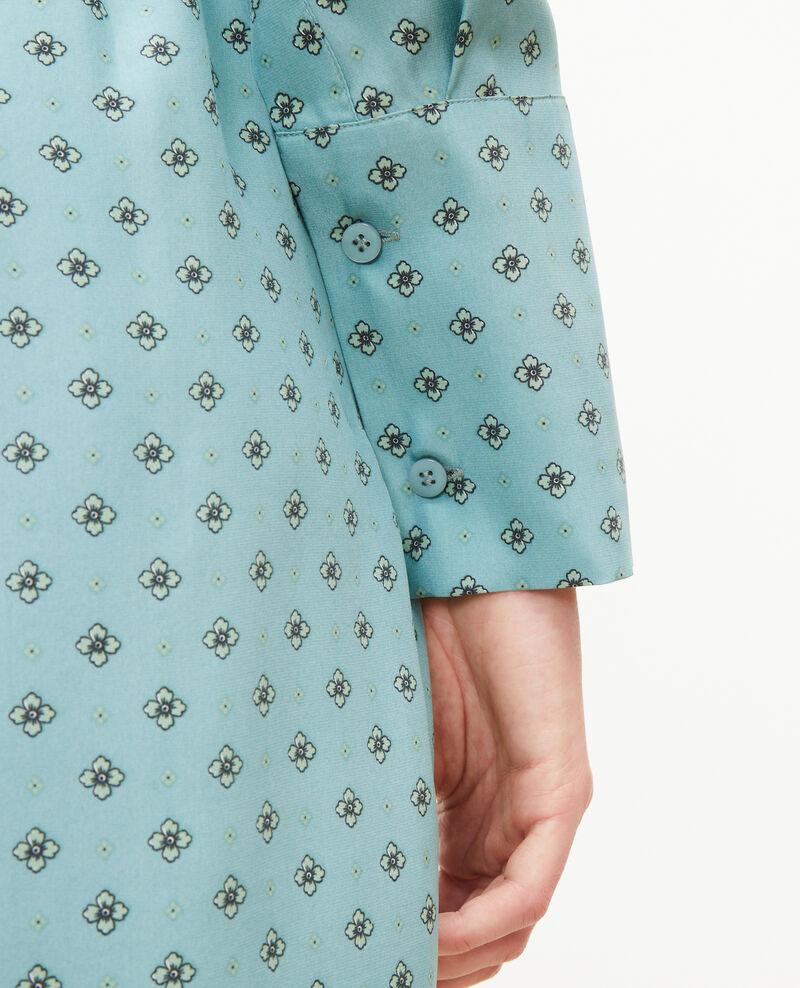 Hemdkleid aus Seide mit Gürtel Print mosaique treillis Maridansa