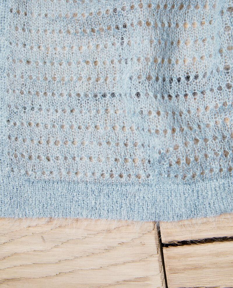Schal aus Zierstrick Blue mirage Imohair
