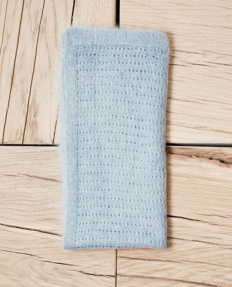Schal aus Zierstrick Bleu Imohair