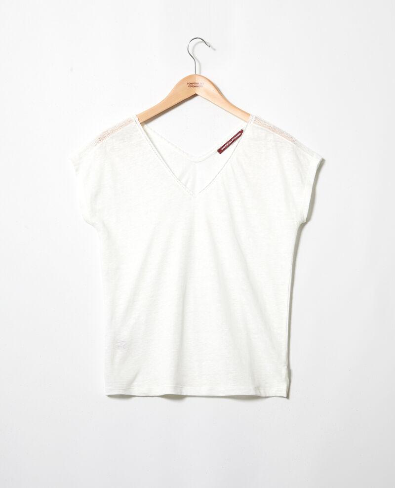T-Shirt mit Spitze Off white Itlanta