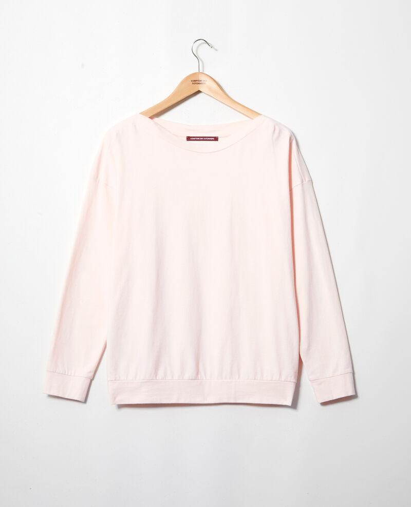 Sweatshirt mit U-Boot-Ausschnitt Light pink Inkaja